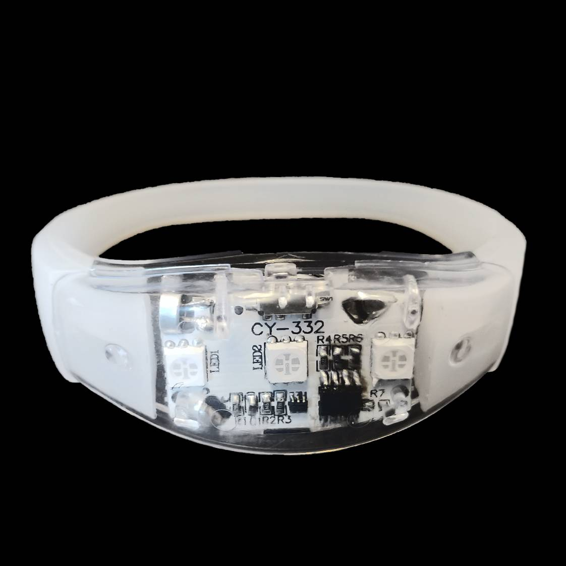 sound activated led armband op muziek