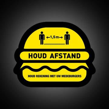 COVID-19 vloerstickers - Houd afstand - Burger