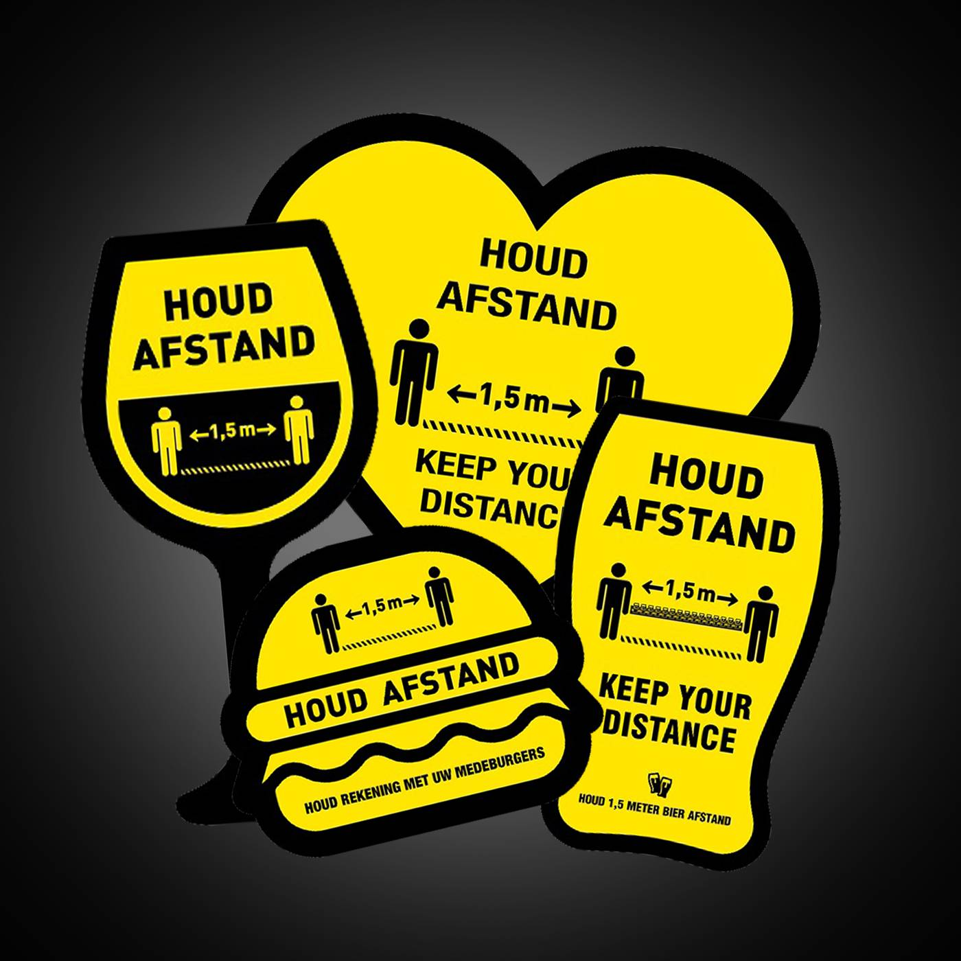 COVID-19 vloerstickers - Houd afstand