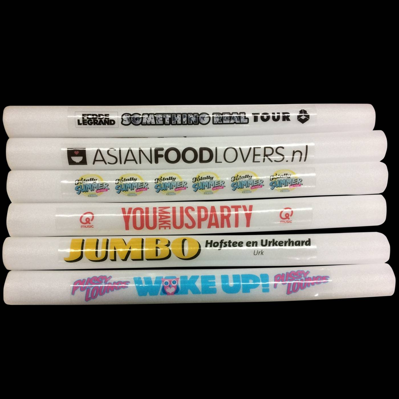 bestickerde foamsticks