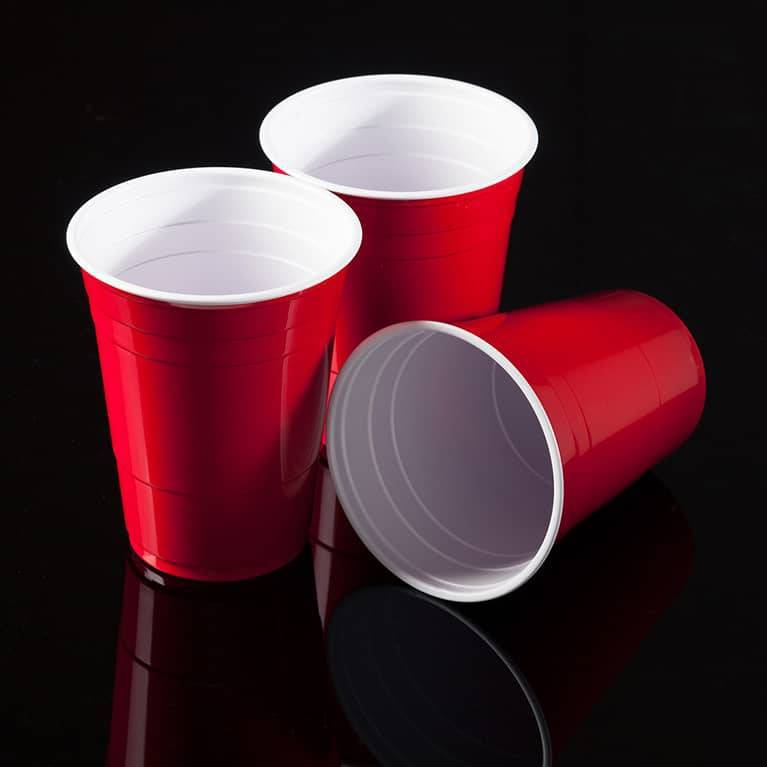 Red cups rood