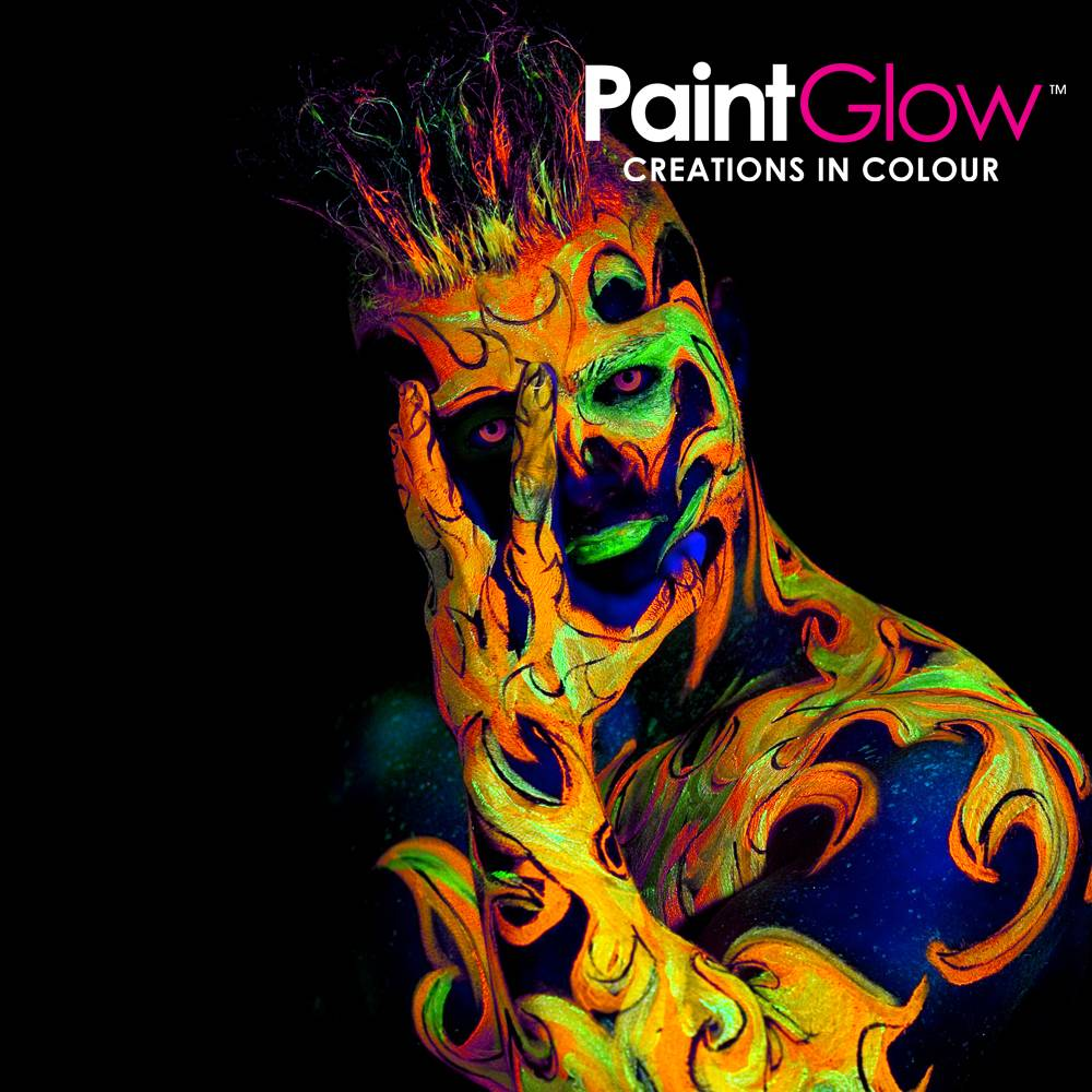 Glow in the dark uv blacklight bodypaint
