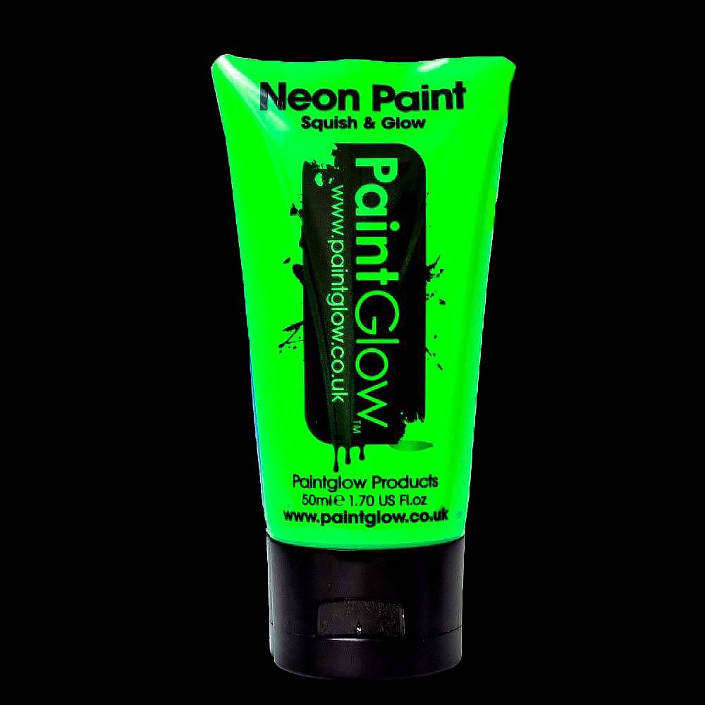 lichtgroene bodypaint glow in the dark