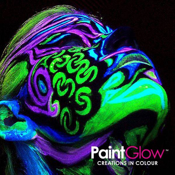 Glow neon in the dark make up festivals