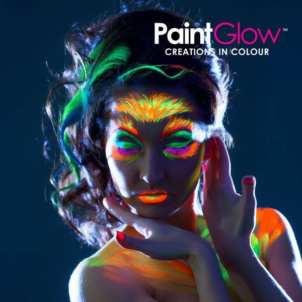Glow in the dark haargel full moon party