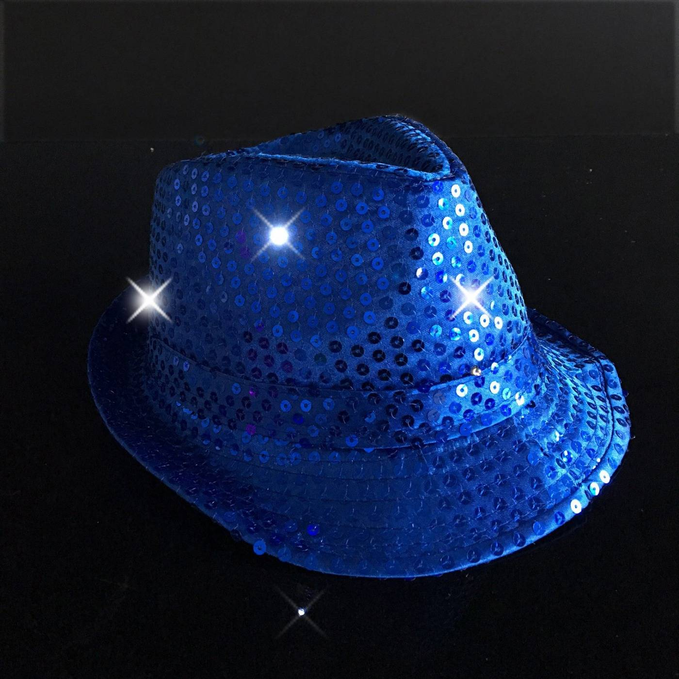 Blauwe LED feesthoedjes - Feestartikelen en partygadgets