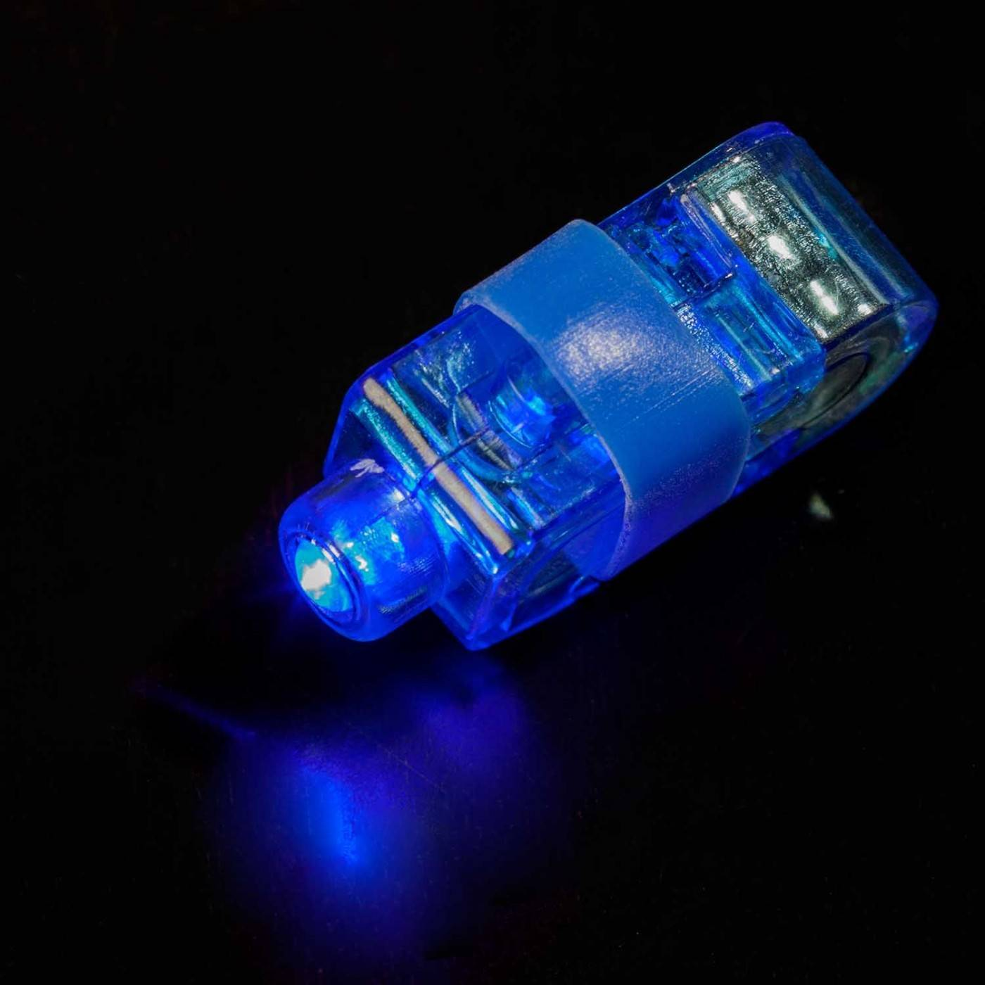 Led ringen blauw vingerlamp